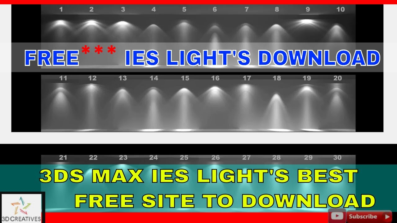 3ds max ies light free download