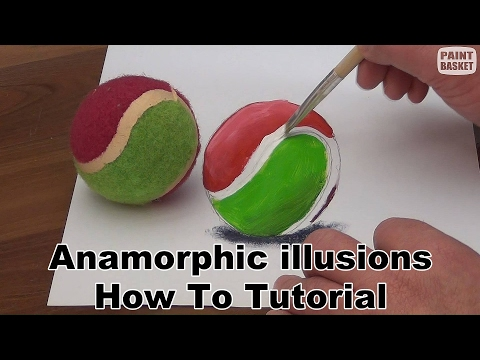 Anamorphic illusion tutorial - How to make 3D trick art