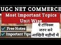 UGC NET - Most Important Topics Commerce I All Units Free Notes Download I Must Prepare Topics