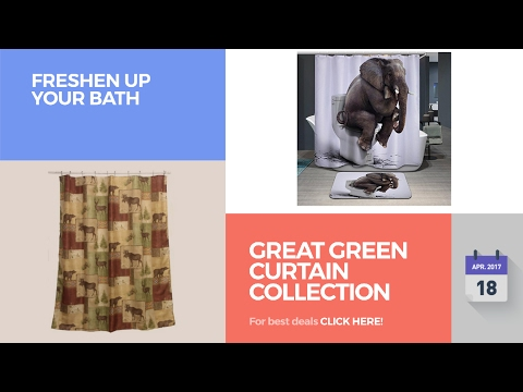 Great Green Curtain Collection Freshen Up Your Bath