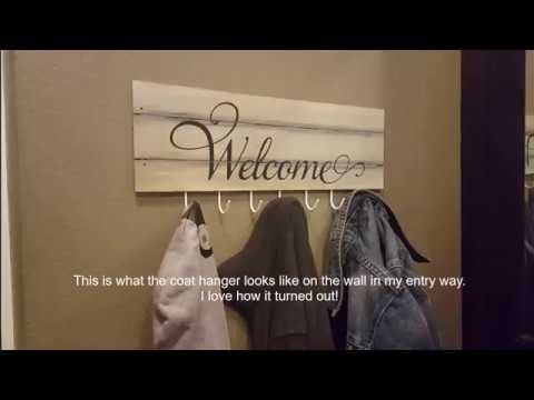 DIY FARMHOUSE | Coat Rack/Towel Hanger | Dollar Tree Project!