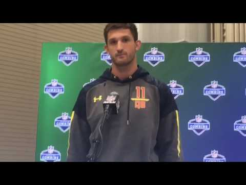 Pitt QB Nathan Peterman talks at the 2017 NFL Combine