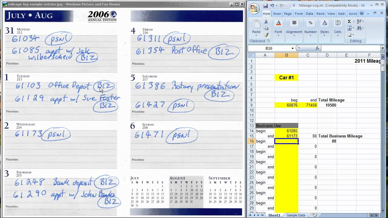 daily business mileage and expense log excel - April.onthemarch.co