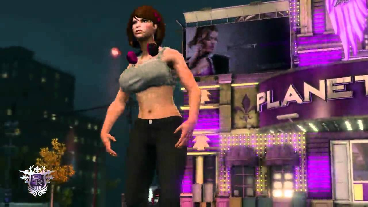 Saints row the third ponytail brunette dancing shaking ass - 2 9