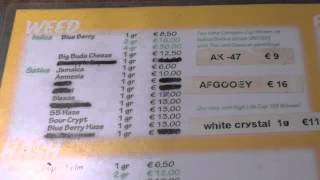 "Amsterdam ""Mellow Yellow Menu"" Coffee Shop -2013 26th Cannabis Cup ..."