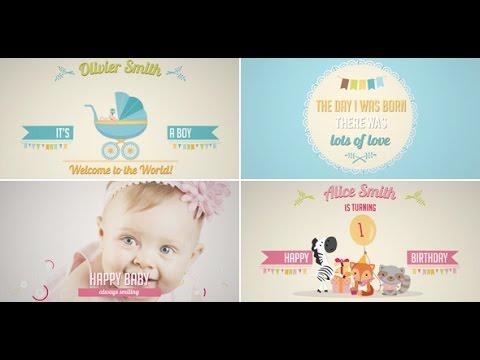 Birth Announcement Baby Birthday Album Boy Girl Version After