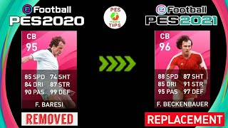Removed Legend Players Replacement in PES 2021 Mobile