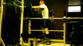275lbs single leg bulgarian squat-training for track cycling sprint speed and power