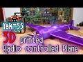3D printed huge RC plane - Yak55