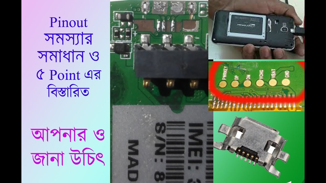 any china mobile micro 5 pin usb pinout and all pin points details solution [ 1280 x 720 Pixel ]