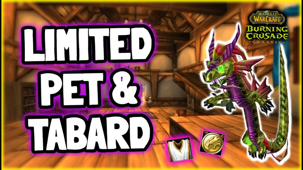 Limited Midsummer Pet & Tabard in TBC Classic