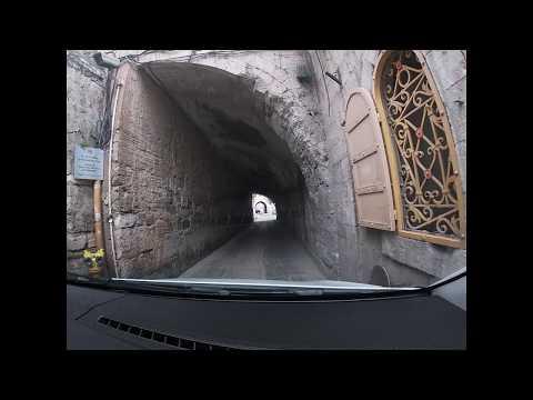 Walking from Mount of Olives to Jerusalem via Gethsemane
