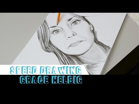 Speed drawing: Grace Helbig