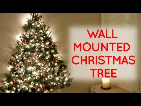 diy wall mounted christmas tree - Christmas Wall Hanging Decorations