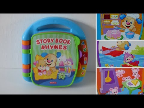 Fisher-Price Laugh and Learn Story and Rhymes Book.Fisher price daloló mesekönyv-Mesemondókák