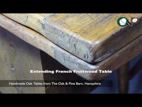 Handmade Oak Tables - Extending Antique French Fruitwood Table