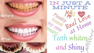 In just a minute yellow teeth whiten and shiny like pearls at Home