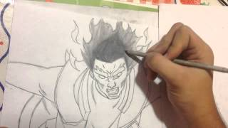 Desenhando Might Guy ( Oitavo Portão ) - Speed Drawing #11