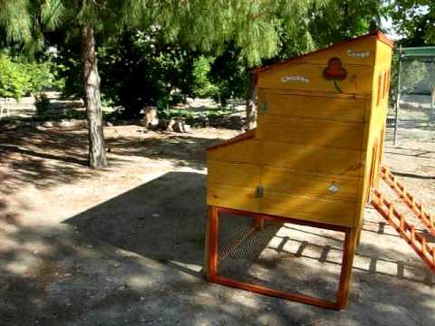 Gallinero de jardin trebol youtube for Gallinero jardin