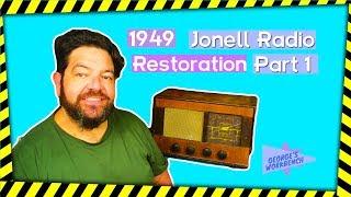 Jonell 1949 Tabletop Radio. Restore an old radio Pt. 1