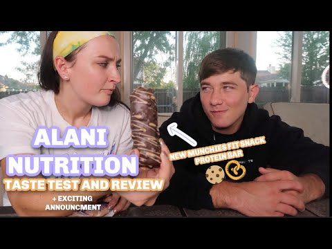 ALANI NUTRITION REVIEW | NEW MUNCHIES PROTEIN BAR | ENERGY DRINKS, PRE WORKOUT, PROTEIN BARS/POWDER