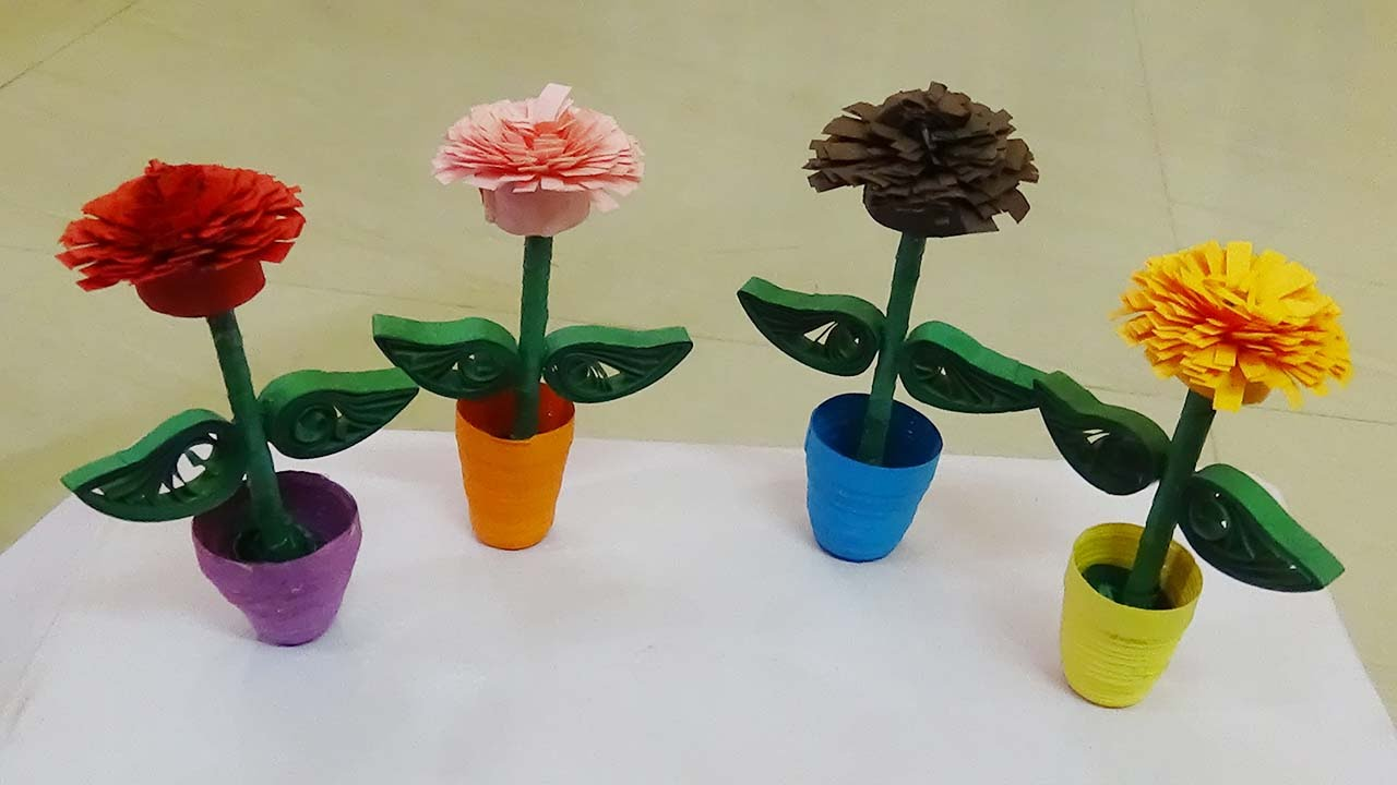 Quilling flower pot how to make a 3d quilling miniature quilling flower pot how to make a 3d quilling miniature flower pot paper quilling art youtube mightylinksfo