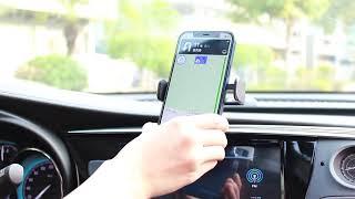 차량 휴대폰 거치대 부착 송풍구 전동 스마트폰 홀더 심…