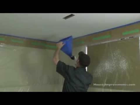 How To Apply (Spray) Ceiling Texture