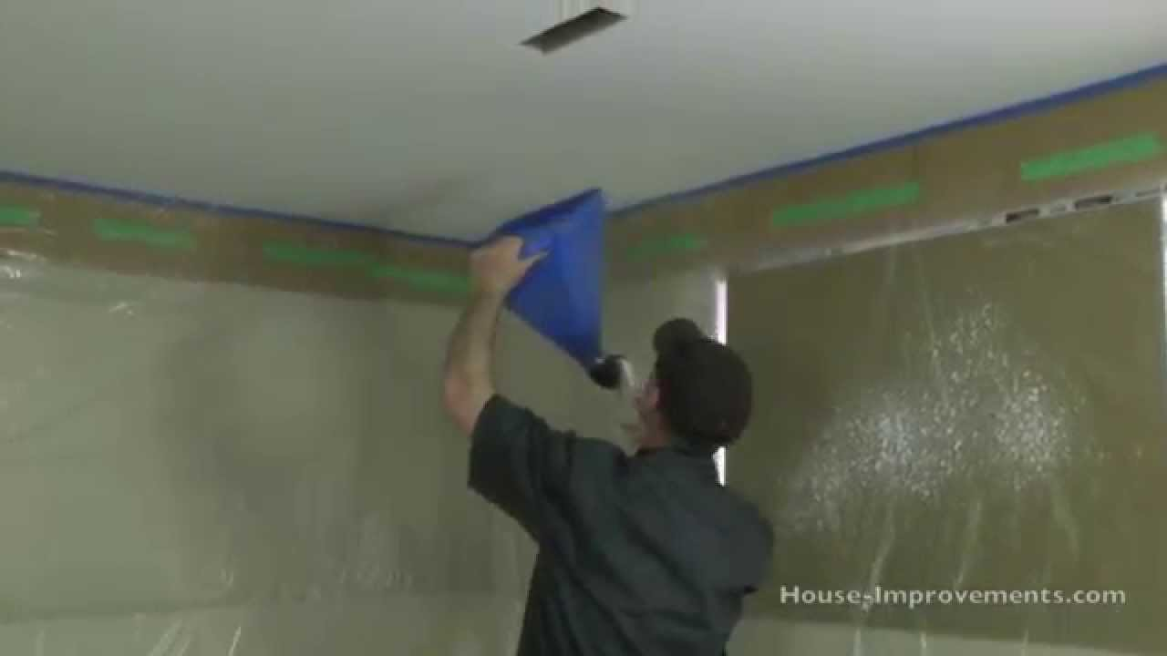 How To Apply (Spray) Ceiling Texture - YouTube