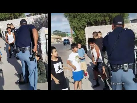 Cop Pulls Gun on Kids Who Were Calling Him Names