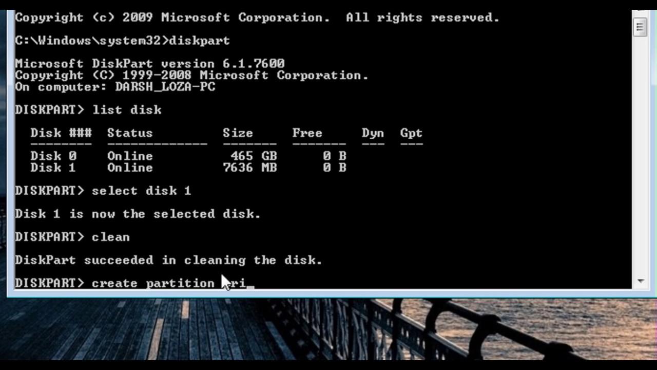 كيفية تسطيب ويندوز من الفلاشة Make A Usb Bootable For Windows