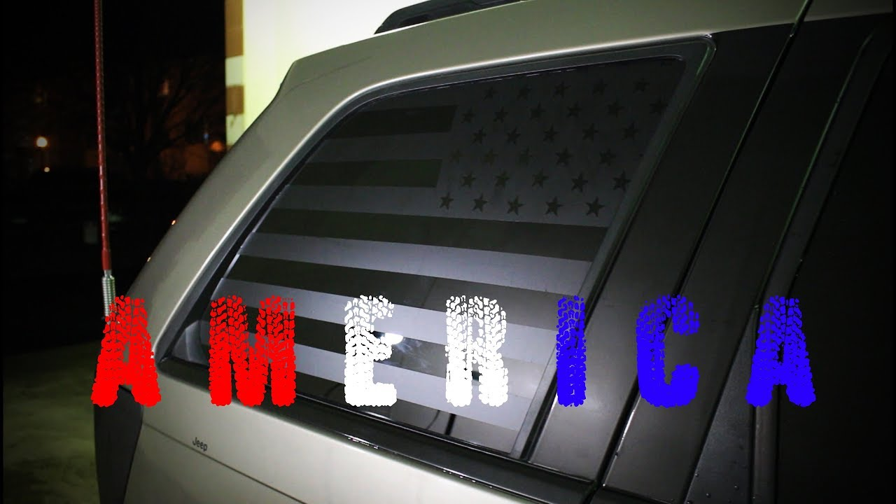 hight resolution of american flag window decal installation