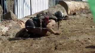 Barbed Wire Crawl - Spartan Beast - World Championship Race, Killington, VT 2013