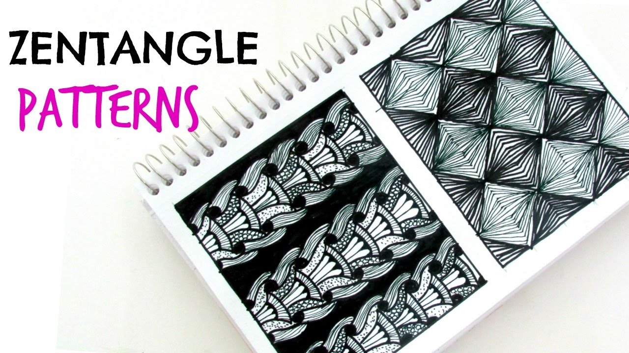 Canny image intended for zentangle patterns step by step printable