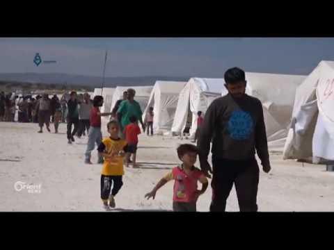النازحون في مخيم دير بلوط يشكون نقص الغذاء  - 17:21-2018 / 7 / 15