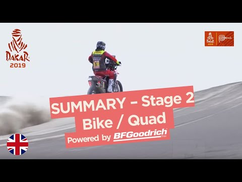 Summary - Bike/Quad - Stage 2 (Pisco / San Juan de Marcona) - Dakar 2019