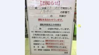 日文生活閱讀 - 日本電車人身事故遲延公告
