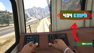 ¿Qué pasa si Franklin pone el tren de gta 5 a máxima velocidad? Grand Theft Auto v funny mod