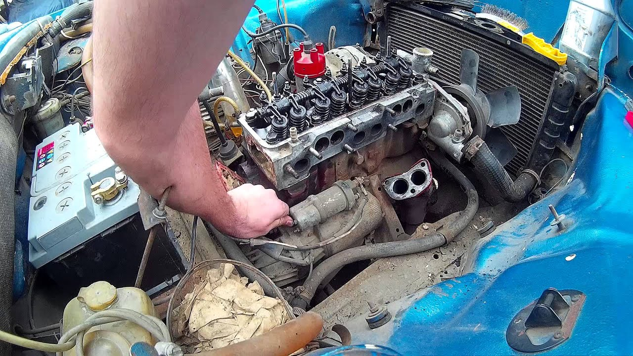 Car Engine Starter Motor Activated By Hand Youtube