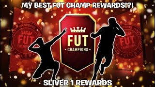 MY BEST FUT CHAMP REWARDS!?! - SLIVER 1 REWARDS - Fifa 19 Pack Opening