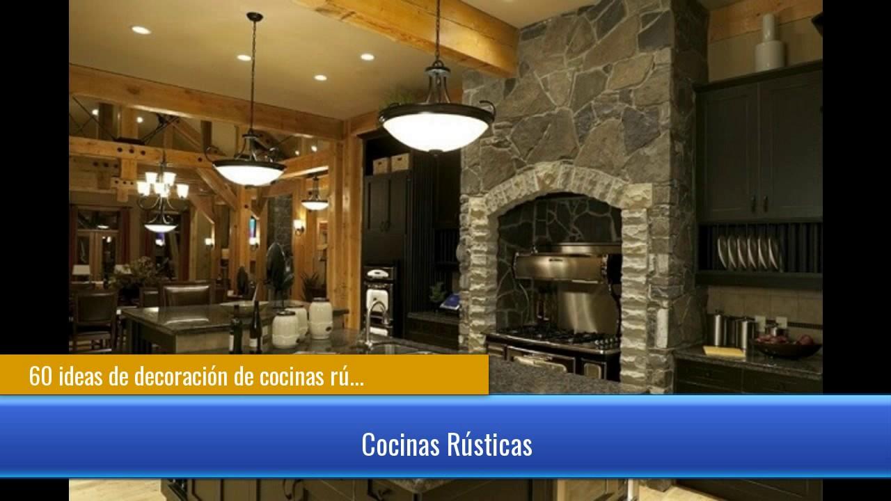 De 60 cocinas r sticas y cocinas de obra youtube - Cocinas rusticas de obra ...