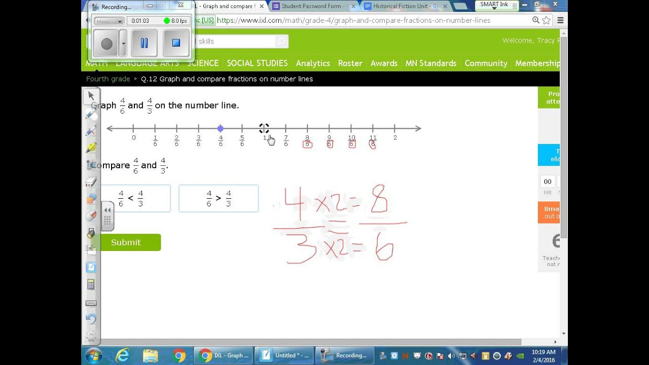 Comparing fractions on a number line greater than and less than comparing fractions on a number line greater than and less than symbols harder buycottarizona Choice Image