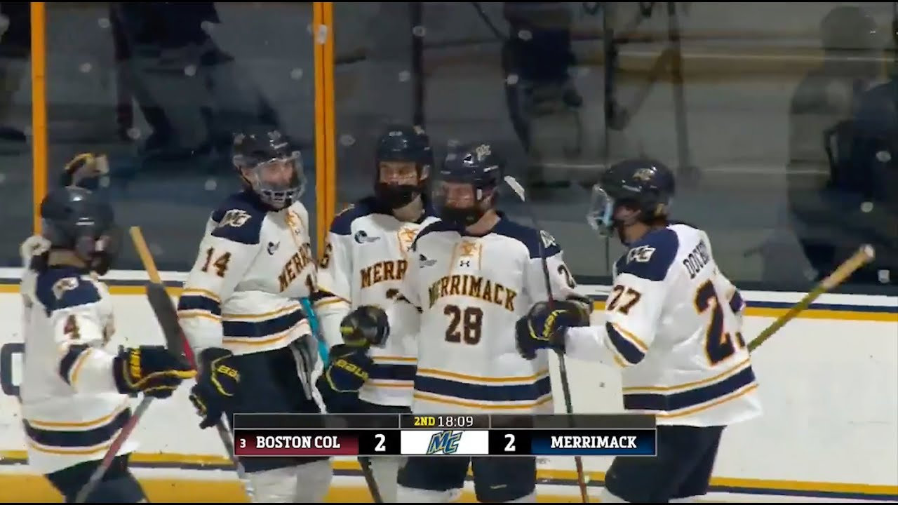 MIH: Merrimack Men's Hockey Highlights vs #3/3 Boston College (1-17-21)