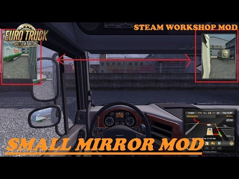 ETS2 Mod Reviews #13 - Small Mirror Mod | Steam WorkShop