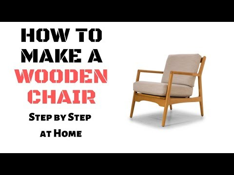 DIY - How to Make a Wooden Chair Step by Step at Home Easily | Penguin Wood Creators