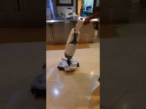 i-mop XL cleaning canteen terrazzo floor, fast and clean result