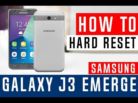 How To Hard Reset Samsung Galaxy J3 Emerge J327P Sprint