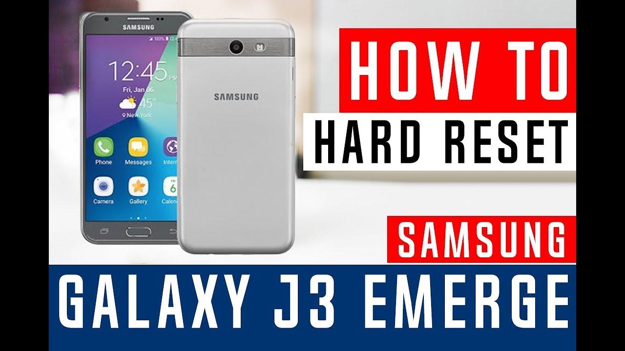 How To Hard Reset Samsung Galaxy J3 Eclipse J327V Verizon