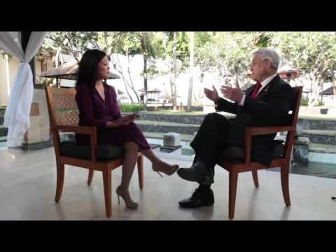 Chilean President Sebastian Piñera talks to Americas Now