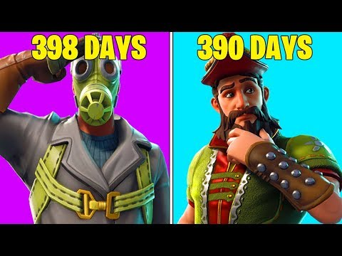 ALL SKINS THAT HAVEN'T BEEN IN THE ITEM SHOP IN OVER 250+ DAYS! (Rare Fortnite Skins Returning!)